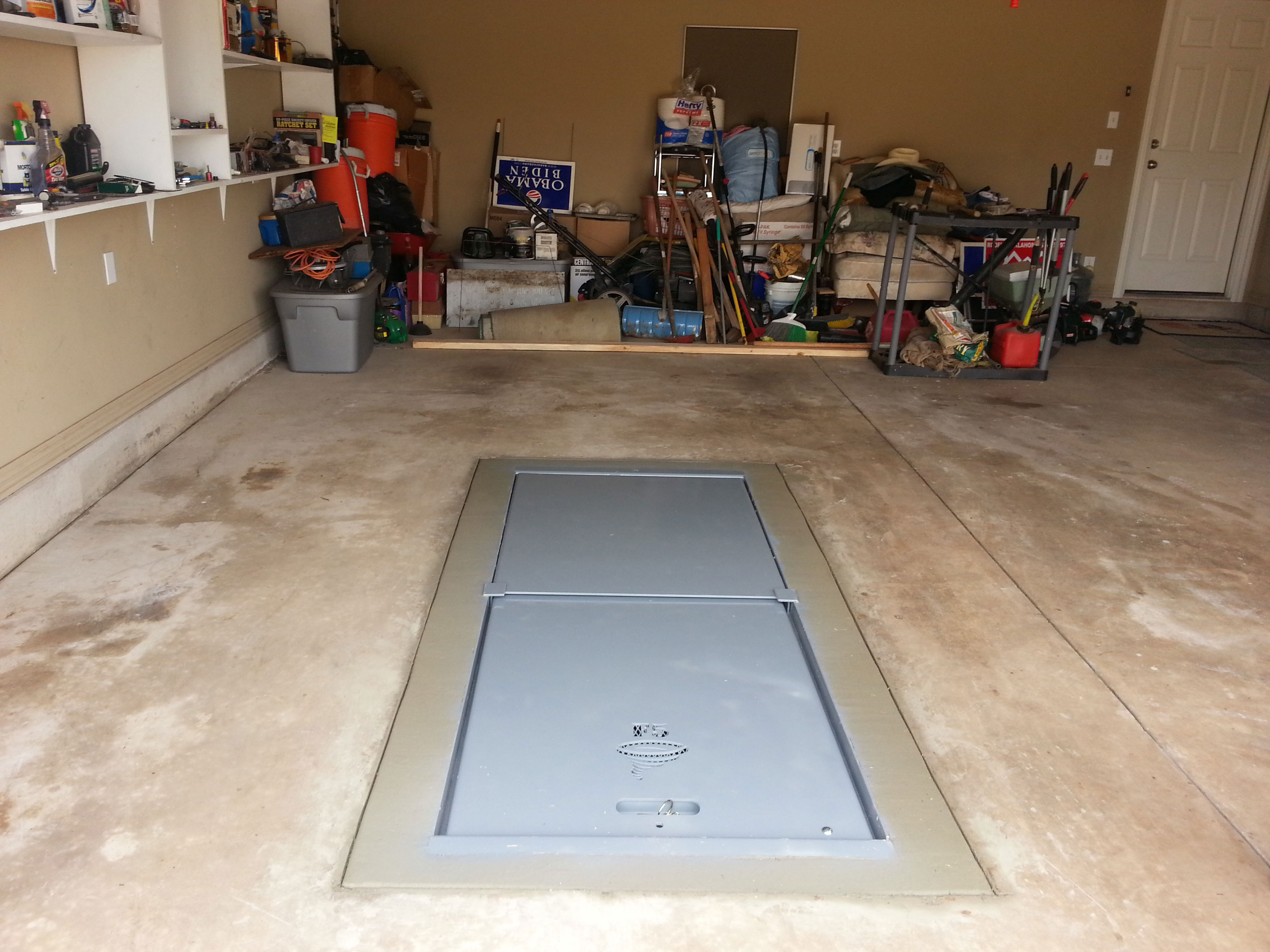 Placement of Storm Shelter in Your Garage