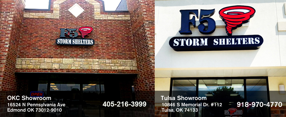 Visit an F5 Storm Shelters Showroom!